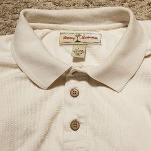 Tommy Bahama Polo Cotton Silk Blend White Men's